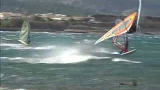 Windsurfing Lavrio November 06 wipeouts