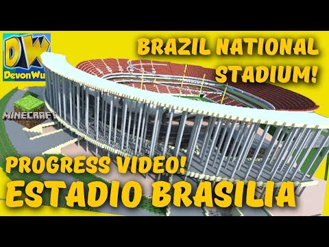 Minecraft STADIUM 😮 - Brazil's National Stadium (Revamp PROGRESS) - Estadio Brasilia