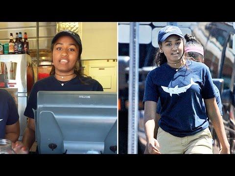 Sasha Obama works summer job on Martha's Vineyard