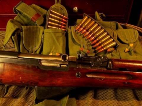 SKS Rifle & Ammo Bandoleer