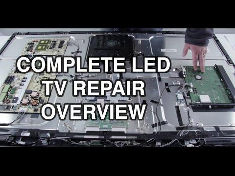 LED TV Repair Tutorial - Common Symptoms & Solutions - How to Repair LED TVs