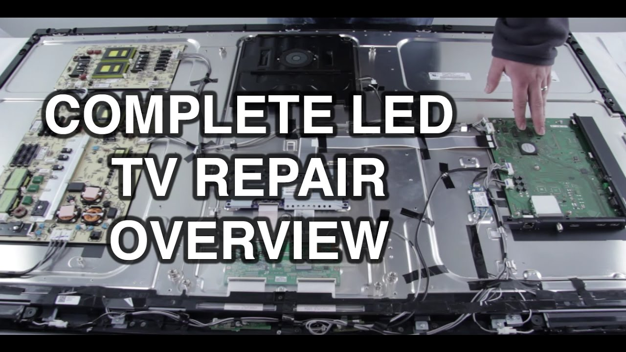 led tv repair tutorial common symptoms solutions how to repair led tvs youtube [ 1280 x 720 Pixel ]