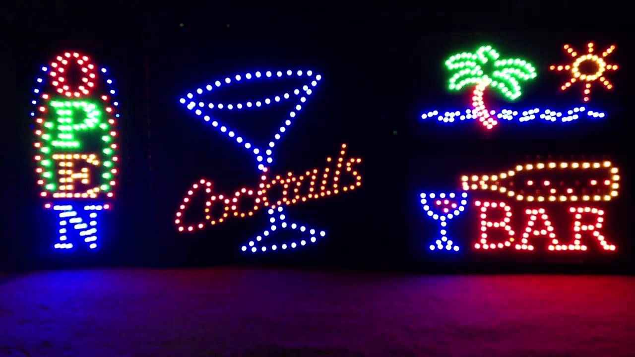 Animated Led Neon Bar Signs