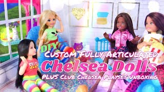 DIY - How to Make: Fully Articulated Chelsea Dolls PLUS Club Chelsea Playsets Unboxing