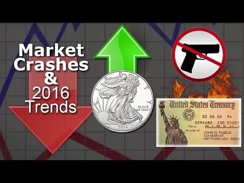 Market Crashes, Gun Control, Silver, Bitcoin & 2016 Trends #CTSECN