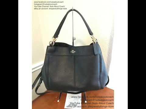 69f9cb25b7a3 COACH SMALL LEXY SHOULDER BAG F23537 -BLACK - YouTube