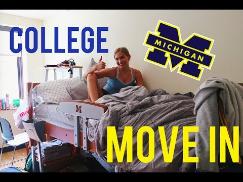 COLLEGE MOVE IN VLOG: University Of Michigan 2019