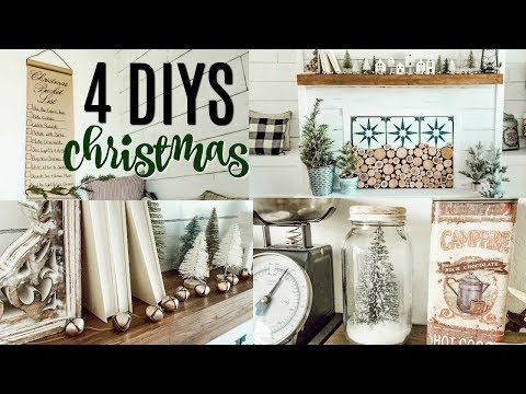 DIY CHRISTMAS DECORATIONS 🎄  AFFORDABLE FARMHOUSE INSPIRED TUTORIALS