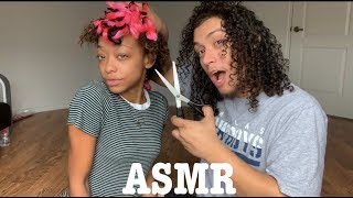 ASMR | My boyfriend takes out my braids (5+ Triggers) + Bloopers!