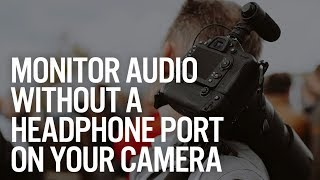 how to with pcv monitor audio without a headphone port