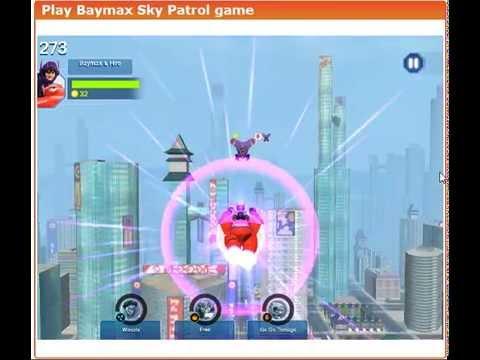 Baymax sky patrol game big hero 6 games youtube