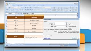 How to use WORKDAY function in Microsoft® Excel : iYogi