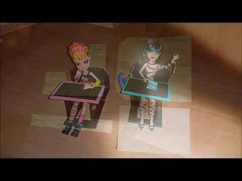 видео: schreibtisch für monster high, leicht gemacht/ Как сделать парту для Монстер Хай
