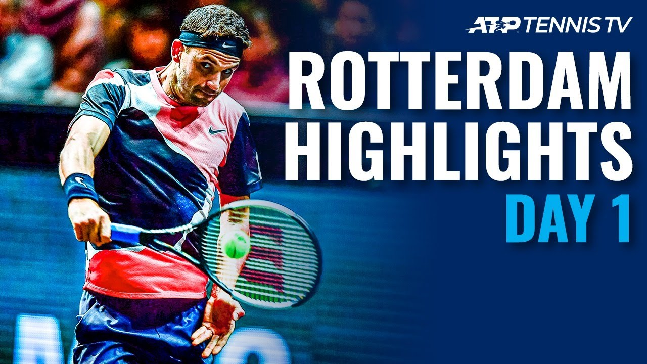 Dimitrov, Bautista Agut Power Through | Rotterdam 2020 Day 1 Highlights