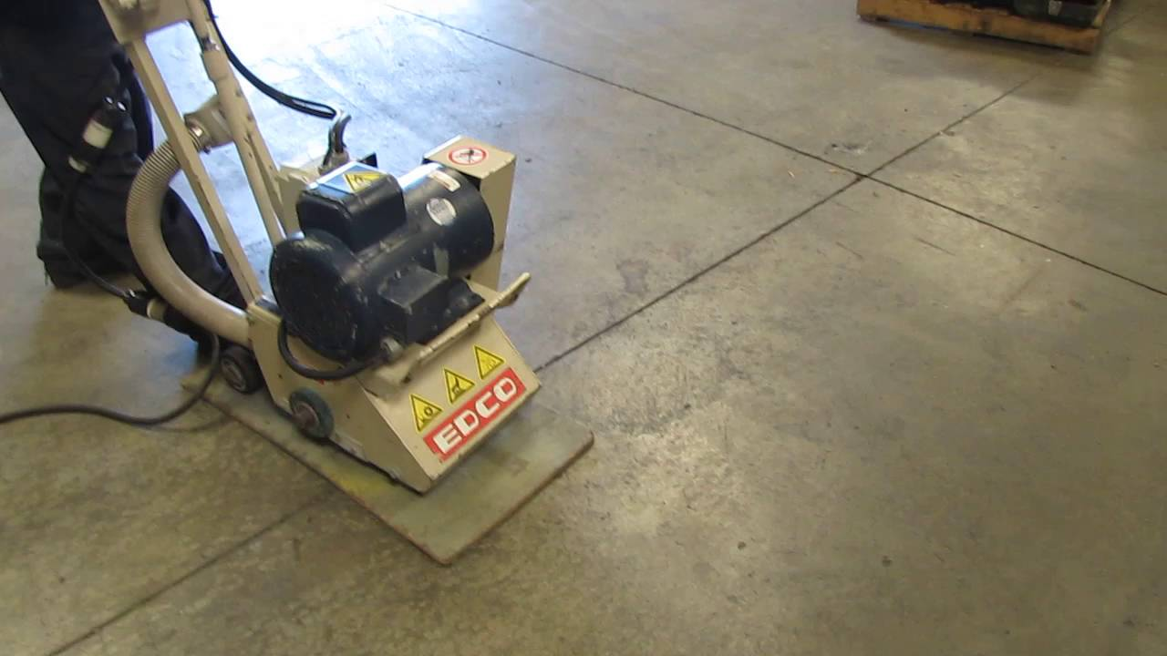 Edco 8 Electric Concrete Walk Behind Scarifier Grinder 5