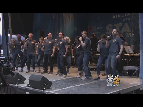 Broadway Stars Sing In Streets