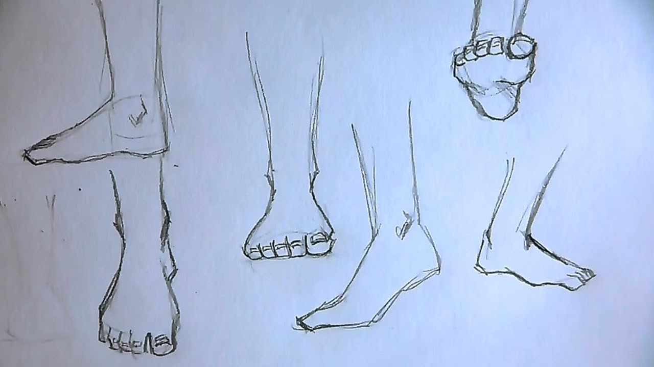How To Draw Feet With Step