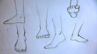 How to draw foot 5 different ways