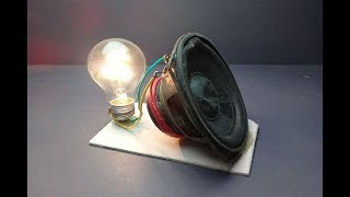 Free energy 100% generator with magnet in speaker - work 100% 2019