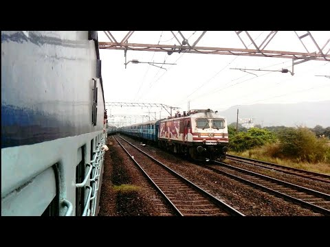 Pune indore superfast express attacking Malavali with AMUL WAP5: Indian railways