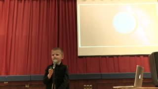 community technology night speech in school 6 years old andy amazing performance