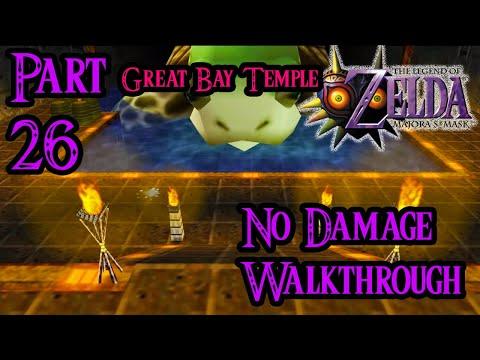 Zelda Majora's Mask 100% Walkthrough Widescreen HD Part 26 - Great Bay Temple