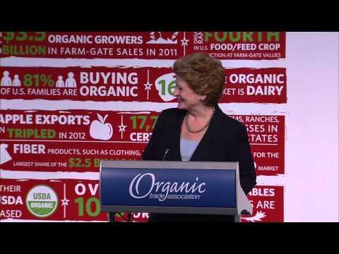 Senator Debbie Stabenow speaking at OTA