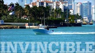 Invincible Open Fisherman in Motion in Miami