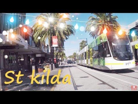 St Kilda Melbourne Australia Drive on Westgate Bridge