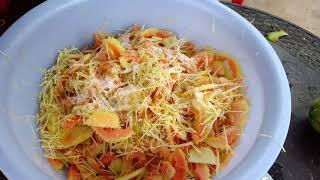 របៀបធ្វើមាំល្ហុង | How to make papaya salad | Cambodian food | Khmer food