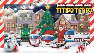 Titipo wheels on the Christmas train! l Kids songs +60 mins l Christmas songs l Tayo and Titipo