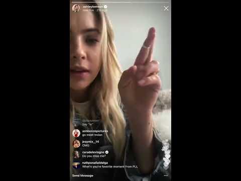 Cara Delevingne flirting with Ashley Benson on the Instagram LIVE