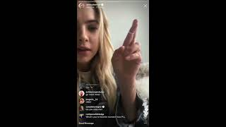 Cara Delevingne flirting with Ashley Benson on the Instagram LIVE