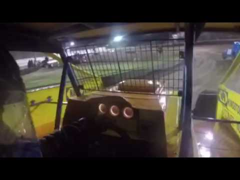 In-Car with Brett Graham Accord Speedway 9/9/16 Modified Heat Race