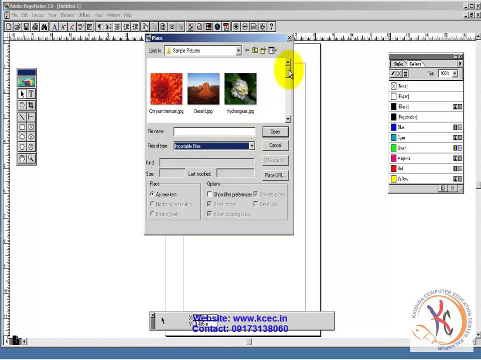 Pagemaker Tutorial In Hindi 10 Page Maker Importing Text