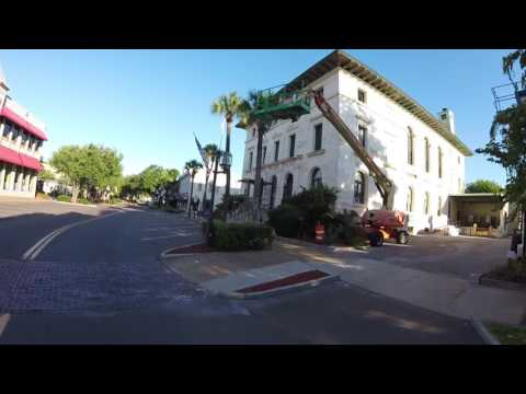 Fernandina Beach, Florida. Downtown by bicycle