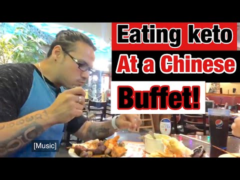 Eating keto at a Chinese buffet!