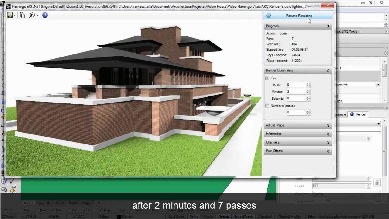 Fast an easy rendering of a visualarq 3d architectural for Easy architectural software