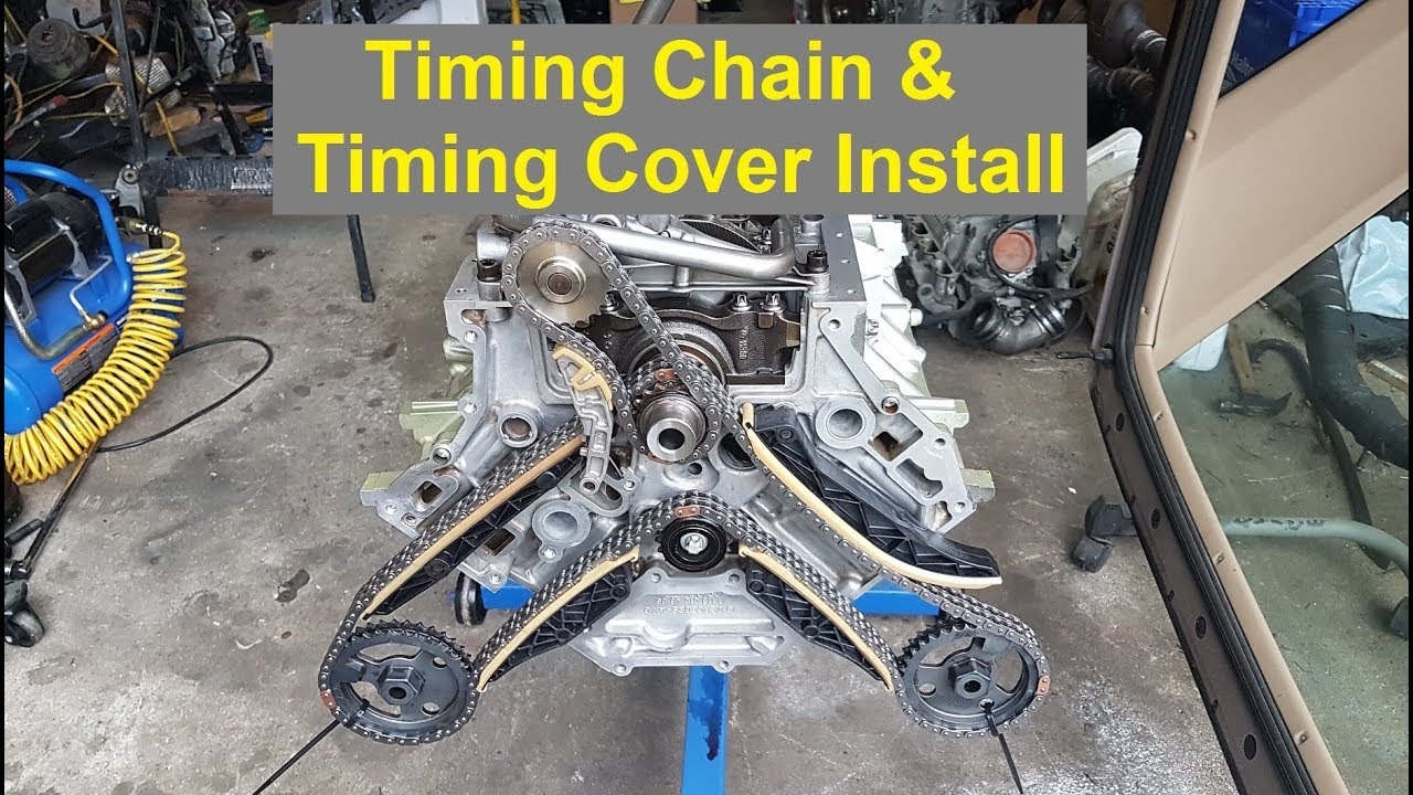 E55 Engine Rebuild - Part 5 (Timing Chain, Timing Cover and Oil Pump  Install)