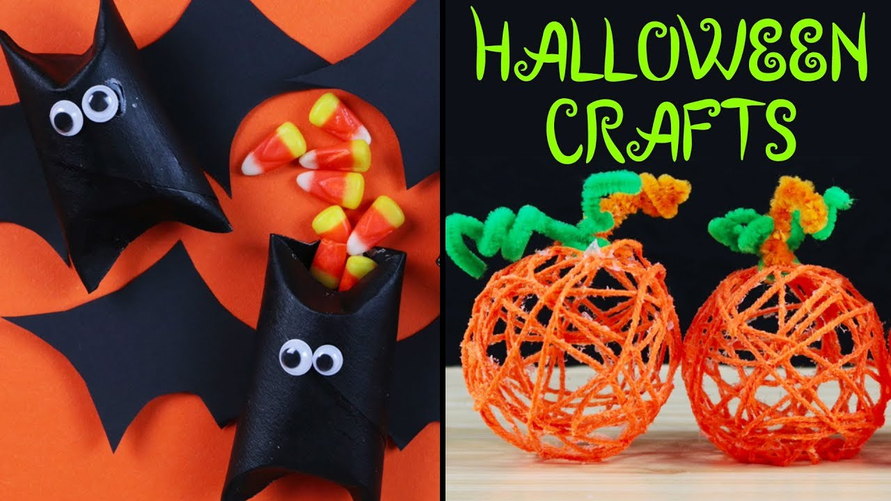 High Quality DIY Halloween Decorations | How To Make HALLOWEEN CRAFTS | Bat Poppers,  Pumpkin Poms Poms And More