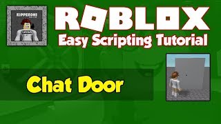 Roblox | How to make a Chat Door [FE]