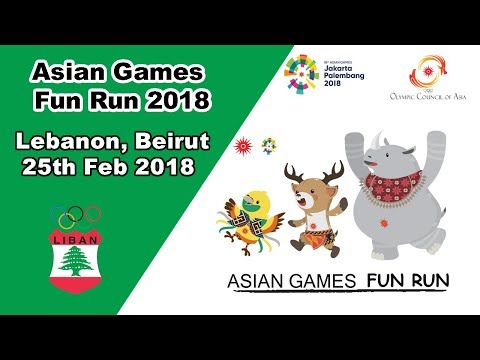 2018 Asian Games Fun Run Highlights In Lebanon, Beirut.