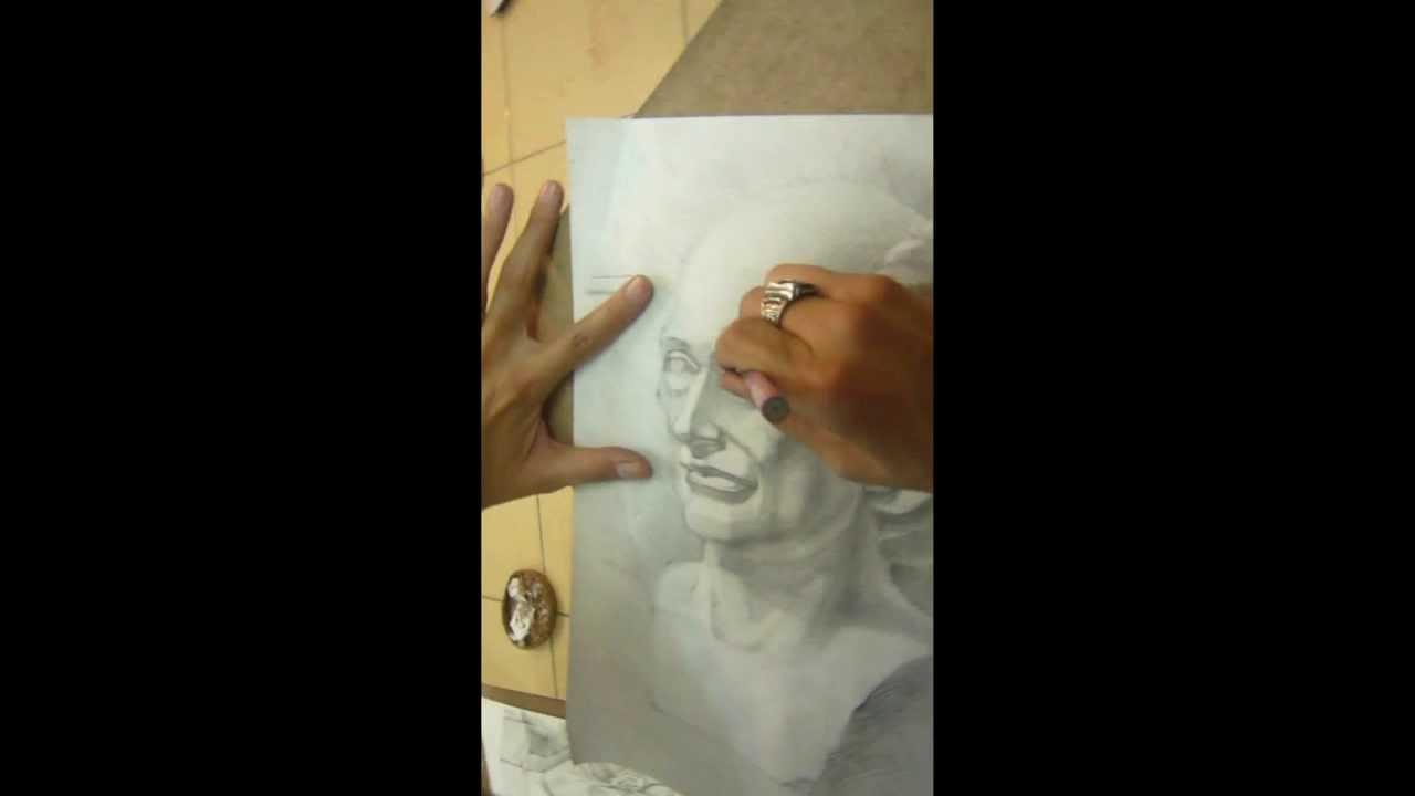 Vẽ tượng thạch cao thi ĐHKTHN 2011(đánh bóng) part 3