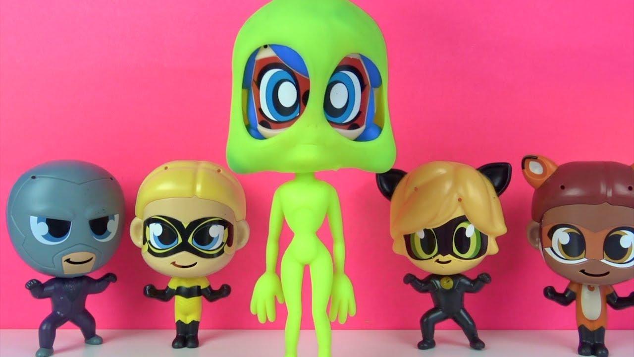 Mucize Uğur Böceği ile Kara Kedi Hawk Moth Slime Tuzağı kurdu Ladybug Yeşil Uzaylı oldu Slime Şakası