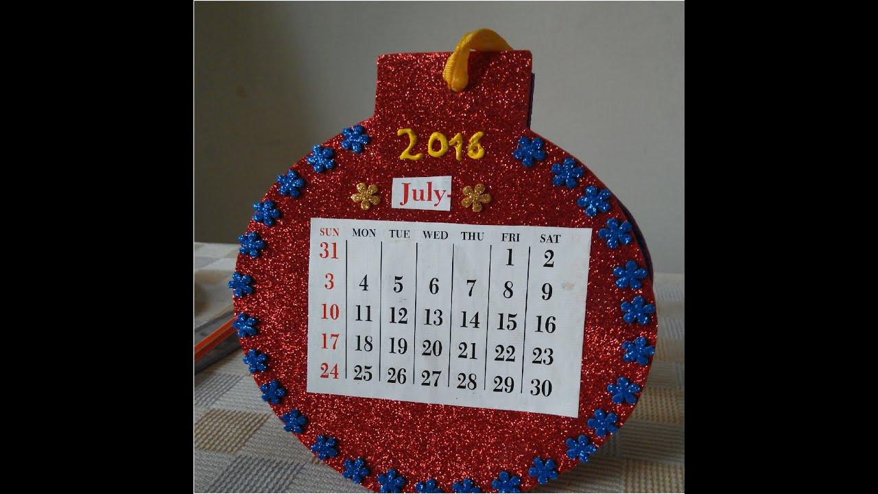 Making a calendar - YouTube