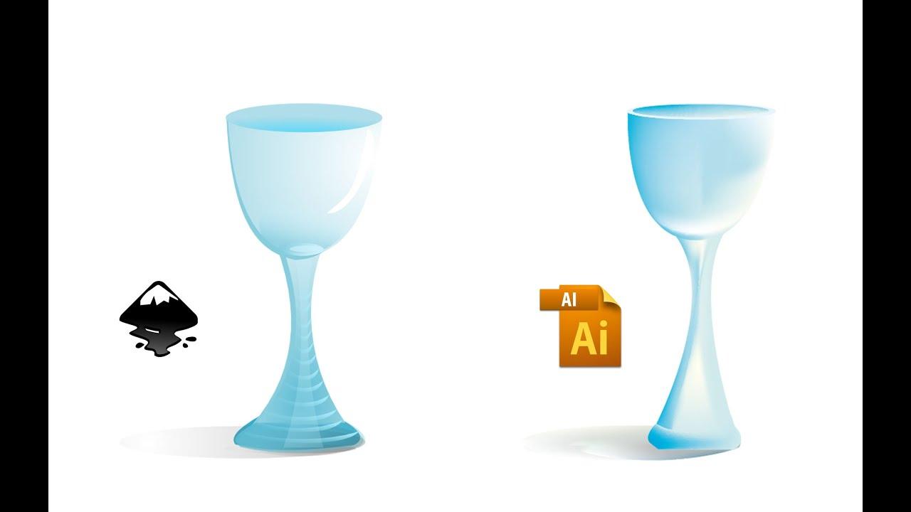 Glass Cup Vector Inkscape Vs Illustotor Youtube