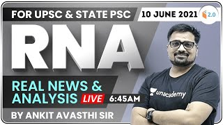 6:45 AM - UPSC \u0026 State PSC | Real News and Analysis by #Ankit_Avasthi | 10 June 2021
