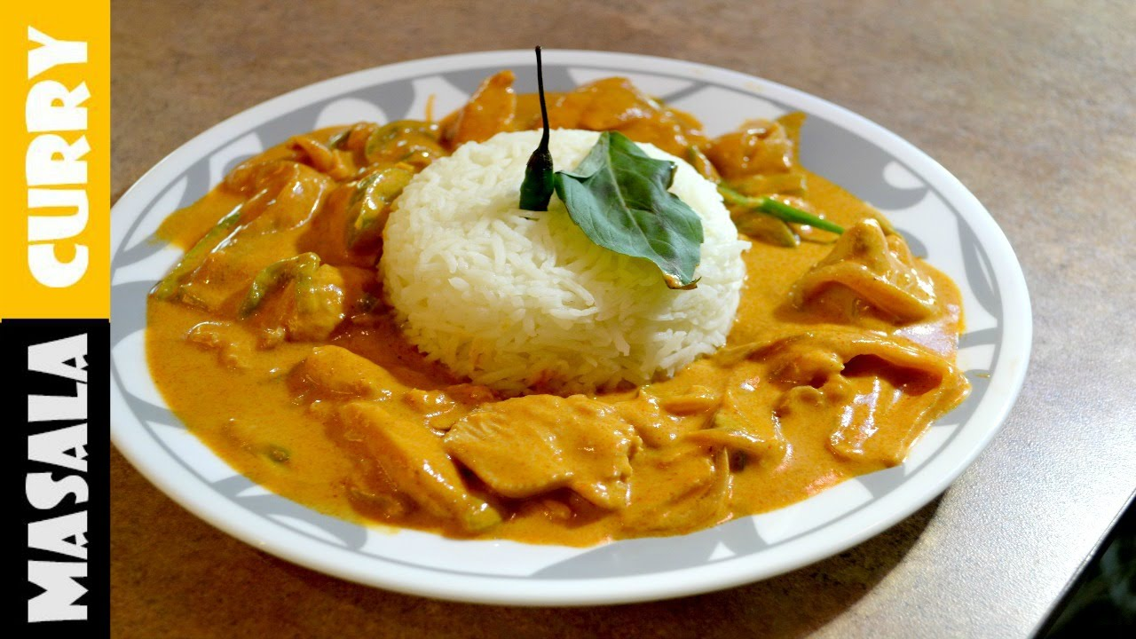 Restaurant style Chicken PANANG Curry | Spicy Panang Curry ...