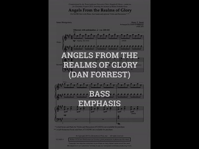 Angels From The Realms of Glory   BASS