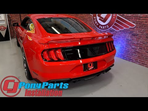 Download Youtube: 2015-2018 Mustang Ford Performance Taillight Panel Molding Gloss Black Without Emblem Installation
